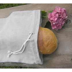 Bread Drawstring  Bag  - 100% linen