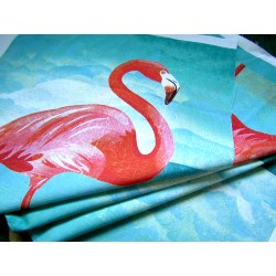 Ready Fabric Panel - Vintage  Flamingo