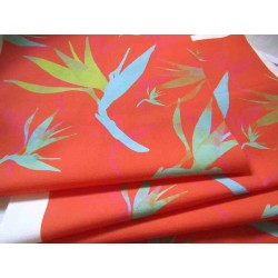 Ready Fabric Panel - PARADISE_FLOWER_ORANGE