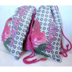 Travel Laundry Bag Set - Retro flowers pattern