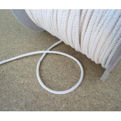 Braided Cotton Cord 4mm - off white