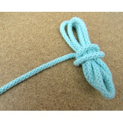Braided Cotton Cord 5mm - mint green