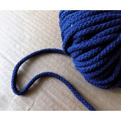 Braided Cotton Cord 5mm - navy