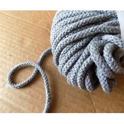 Braided Cotton Cord 5mm -  grey