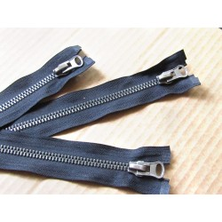 metal zip - black  - metal gun - size 8 - 70cm