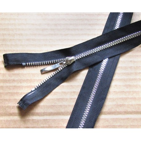 black chunky zip size 3 -- 65cm decorative