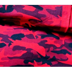 Camouflage red-black - Sweatshirt jersey fabric