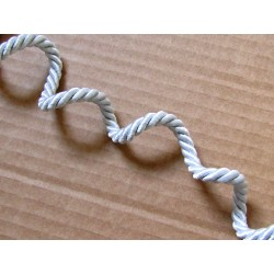 Decorative twisted rope  7mm - silver