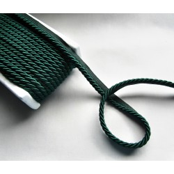 Thick flanged rope  piping cord 8mm - dark green