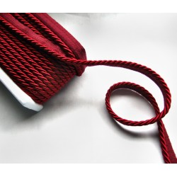 Thick flanged rope  piping cord 8mm - wine