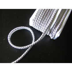 Thick flanged rope  piping cord 8mm - silver grey