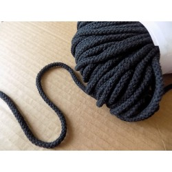 Braided Cotton Cord 4mm - black