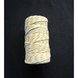 Bakers twine -2,5m yellow&white