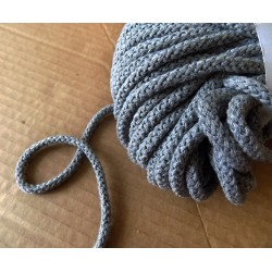 Braided Cotton Cord 5mm -  dark grey