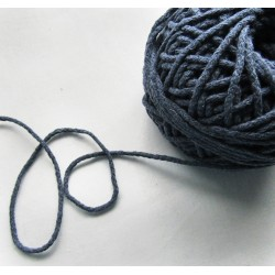 Braided Cotton Cord 3mm - jeans