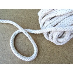 Braided Cotton Cord 8mm - white