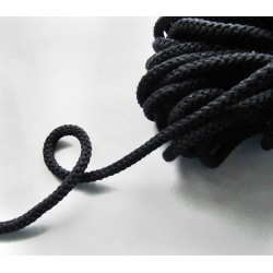 Braided Cotton Cord 8mm -black