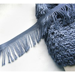 fringe -  5cm wide - steel grey
