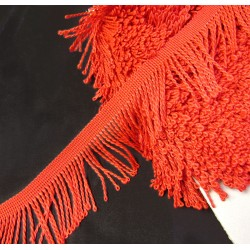 fringe -  5cm wide - light red