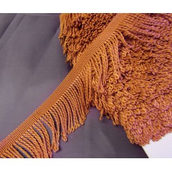 fringe -  5cm wide - chestnut brown