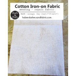 Iron-on  repair fabric - white