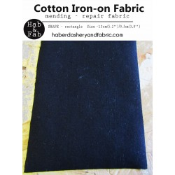 Iron-on  repair fabric - black