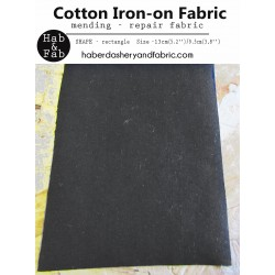 Iron-on  repair fabric - dark grey