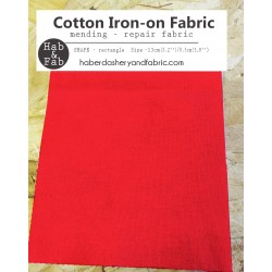 Iron-on  repair fabric - red