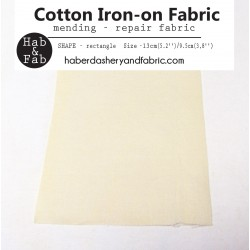 Iron-on  repair fabric - light beige