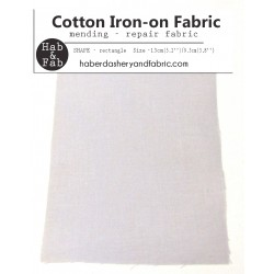 Iron-on  repair fabric - light  grey