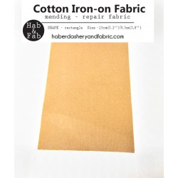 Iron-on  repair fabric - light  brown