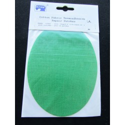 Iron-on cotton elbow patches - green