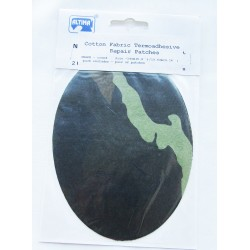 Iron-on cotton elbow patches - camouflage