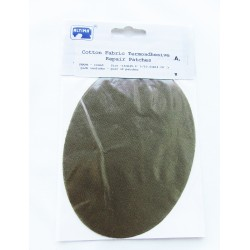 Iron-on cotton elbow patches - olive brown
