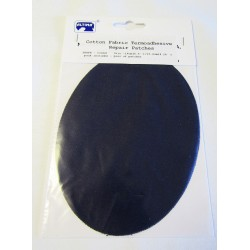 Iron-on cotton elbow patches - black