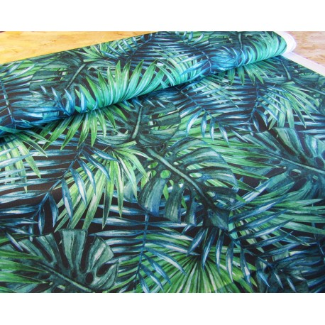 Waterproof fabric - Palm Leaves