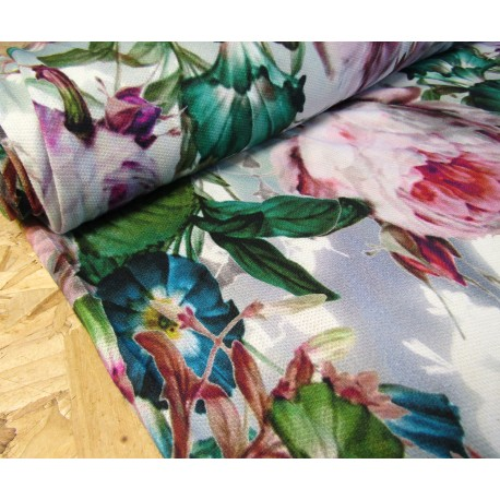 Roses&Flowers  - jersey fabric