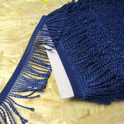 60mm bullion fringe - navy