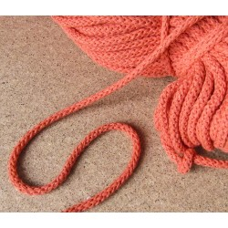 Braided Cotton Cord 5mm - orange - 50m