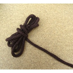 Braided Cotton Cord 5mm - brown - 50m