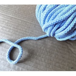 Braided Cotton Cord 5mm - light blue - 50m