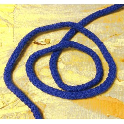 Braided Cotton Cord 5mm - royal blue - 50m