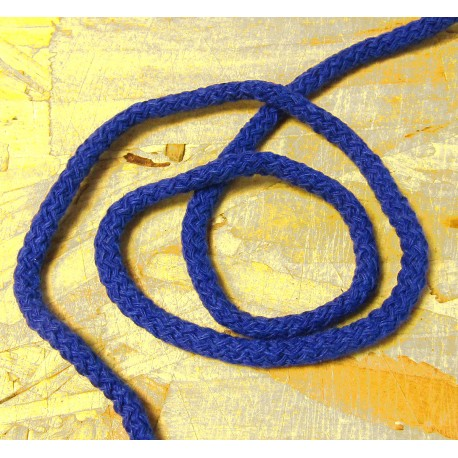 Braided Cotton Cord 5mm - royal blue