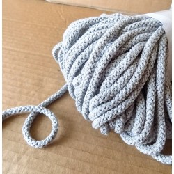 Braided Cotton Cord 5mm - light grey - 50m