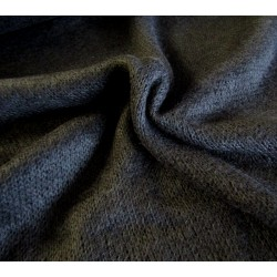 Black azure jersey knit fabric