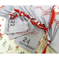 Advent calendar bags - light grey