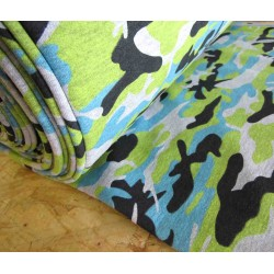 Camouflage mint- grey - Sweatshirt jersey fabric
