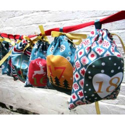 Advent calendar bags set - Teal Mood