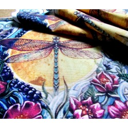 Fabric Panel - Dragonfly on the Sun - large panel