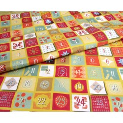 Advent Calendar pattern - 100 % cotton fabric
